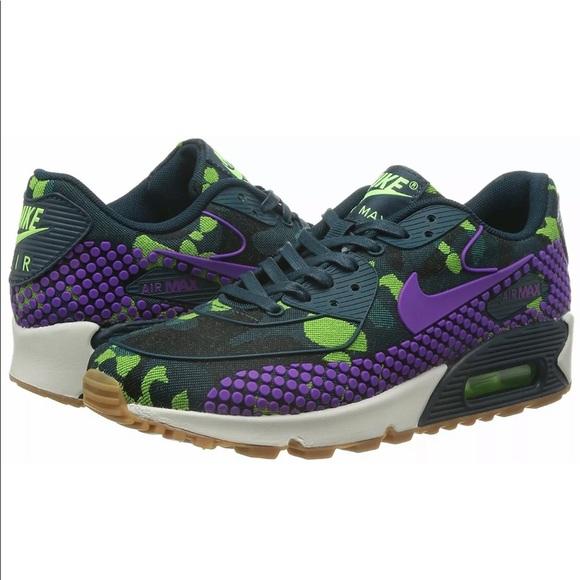 Nike Air Max 9 Green Purple Camo